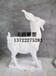 汉白玉山羊大理石工艺品羊雕塑