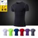 男士PRO紧身训练健身衣跑步短袖运动服速干衣T恤衫T1201