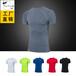 运动紧身PROT健身运动跑步训练服短袖T恤弹力排汗速干衣T1203