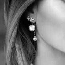 APMMonaco母贝925银耳钉耳环专柜一比一
