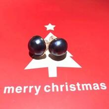 18K金马贝耳环天然日本马贝珍珠套装