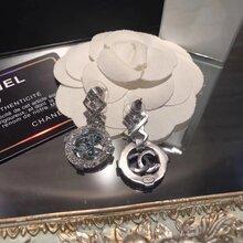 Chanel香奈儿黄铜复古耳环图片