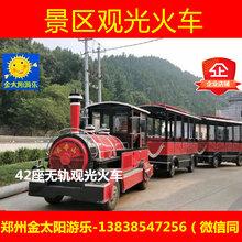 金太阳游乐设备42座景区观光火车游览小火车无轨道观光大火车图片