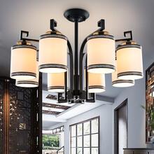 wagouwik华高域吊灯新中式布艺吊灯餐厅客房中式吊灯/直销批发图片