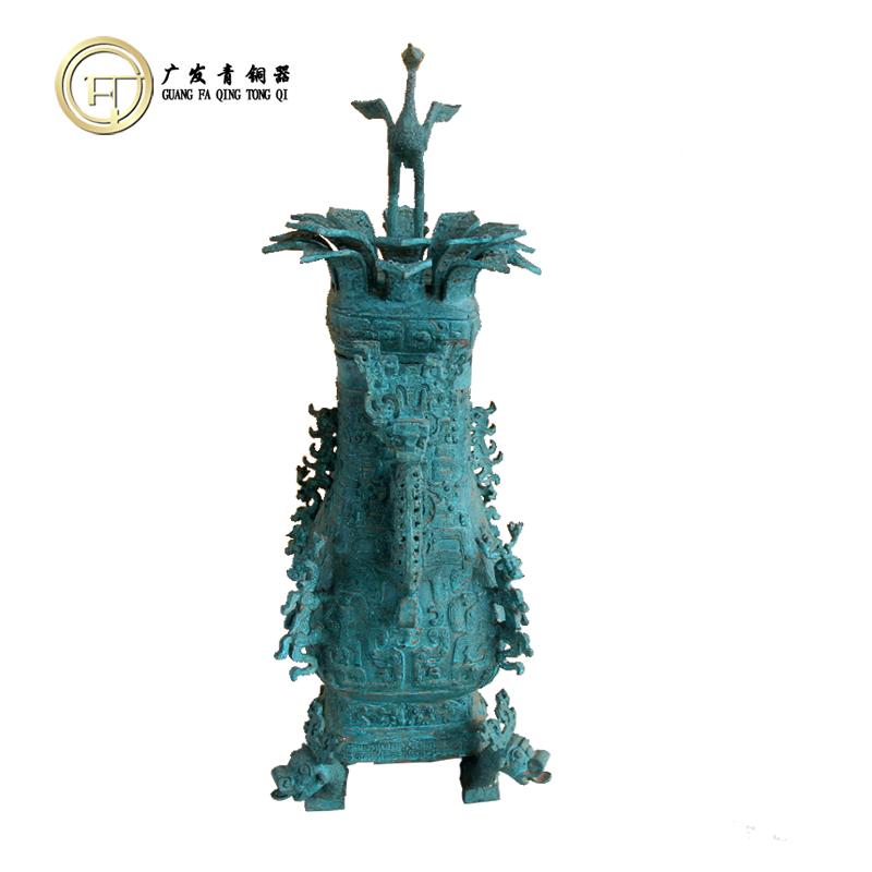 莲鹤方壶古董青铜器仿古摆件莲鹤方壶会议出国礼品洛阳广发青铜器