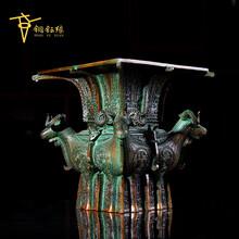 青铜器仿古摆件四羊方尊工艺品摆件定做直销礼器古董