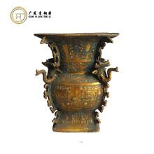 青铜器仿古摆件扉棱像尊铜工艺品厂家定做直销