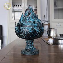 青铜器博山炉工艺品摆件文玩古玩铜工艺品订做直销