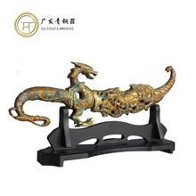 青铜器摆件小龙刀祭器礼器定做直销铜工艺品