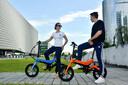 智能折叠电动自行车,折叠电助力车图片
