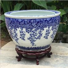 景德镇陶瓷缸生产厂家陶瓷大缸定做家居客厅摆设陶瓷鱼缸