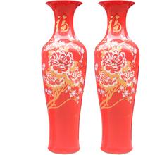 景德镇中国红大花瓶颜色釉大花瓶3米大花瓶定制