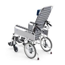 三贵Miki老人轮椅车MSL-T靠背可调节带趟轻便折叠手动轮椅高靠背