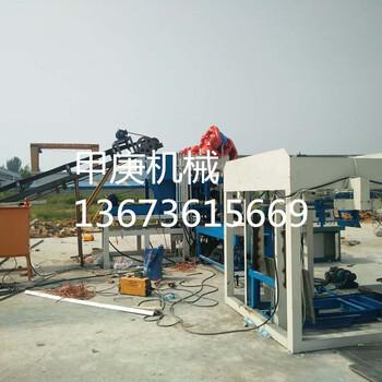 甲庚机械5-15免烧水泥空心砖机日本变频技术优质全自动水泥面包砖机设备