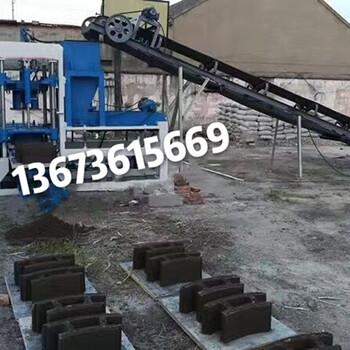 甲庚3-15自动水泥砖机彩色水泥砖机混合垫块砖机液压空心砖机生产线