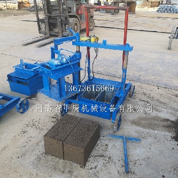 免托板磚機天津甲庚2-45單相電建筑垃圾水渠磚機上手簡單