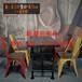 铁艺餐椅组合loft美式咖啡厅甜品店桌椅套件户外休闲奶茶店阳台休闲椅