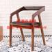 餐厅餐椅简约现代软垫靠背椅咖啡厅创意休闲椅酒店全实木椅子