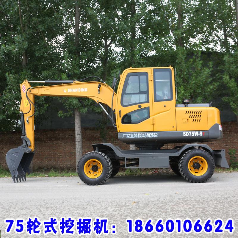 城市拆迁轮式挖掘机械小型轮胎式挖掘机价格表