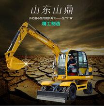 新疆轮式挖掘机六万以下的小型轮胎式挖掘机价格图片
