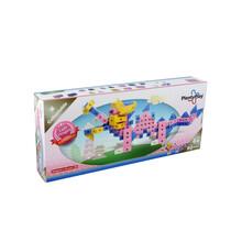 玩多多益智拼插积木儿童玩具plentyplay中国粉龙家族90202