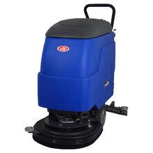 地铁站专用洗地机地面污渍泥渍擦洗用威德尔24V充电式手推洗地机