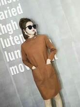 2017年加厚中长款时尚韩版六羊毛毛衫,品牌女装折扣批发市场