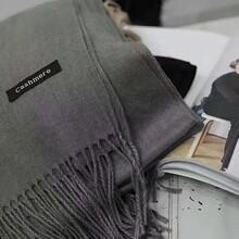 纯色羊绒围巾,明星同款,厂家直销图片