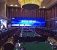 广州新闻媒体发布会活动策划LED屏音响舞台背景架搭建