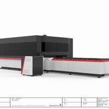 大鹏激光3000W大功率光纤激光切割机不锈钢金属管材加工数控自动切割机厂家图片