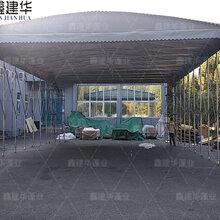 巢湖区伸缩推拉式仓库篷遮雨_大型户外移动棚是否耐用图片