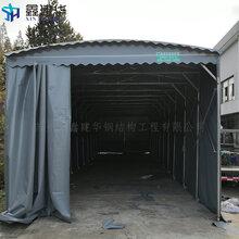 信阳大型电动仓储篷房电动遮阳遮雨棚厂家直销图片