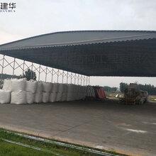 黃岡麻城市大型移動式儲蓄棚/鋼管推拉雨蓬如何做固定措施圖片