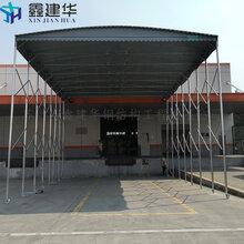 三亚海棠区大型帆布物流推拉蓬活动式仓库棚厂家制作图解图片