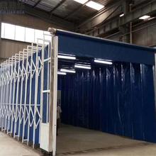 易县移动式伸缩喷漆房/环保型伸缩雨棚种类齐全图片