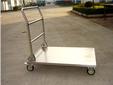 销售各类物流手推车定做各类尺寸不锈钢平板推车不锈钢双层手推车图片
