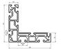 规格的欧标槽8铝合金流水线型材
