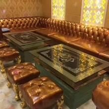 厂家定做异形弧形L形U形沙发酒吧KTV沙发定制休闲会所卡座沙发