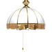全铜吊灯玻璃简约餐厅走廊LED吸顶铜灯爆款中山厂家直销批发