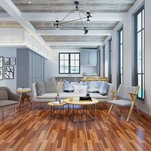 客厅餐厅仿实木地砖简约仿古砖木纹砖仿古砖全抛釉150900图片