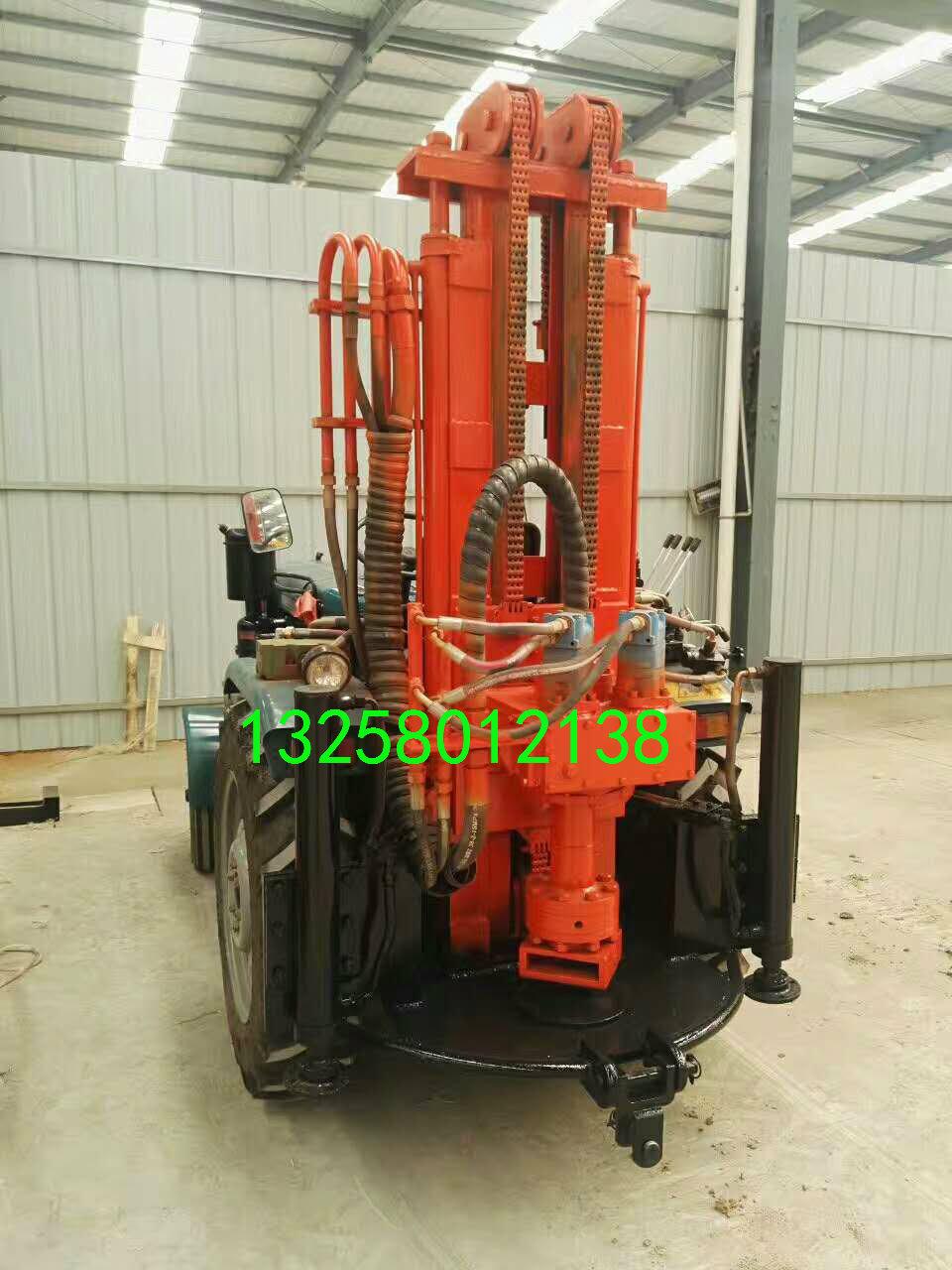 恒旺HQZ-100拖拉机式气动钻机拖拉机式水井钻机厂家现货-冲击式水