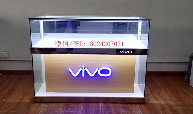 手机柜产品展示玻璃柜全套全新联通业务受理台