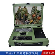 17寸嵌入式电话打印机机箱定制军工电脑加固笔记本外壳铝一体机工业便携机机箱视频采集图片
