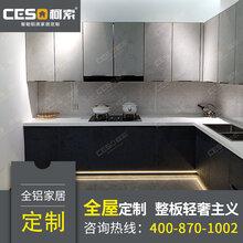 全铝橱柜合金门板定做全铝门隐框门玻璃衣柜柜门厨房整板型材批发