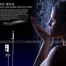 冷熱水龍頭暗裝入墻式淋浴按摩式花灑淋浴時尚飛雨花灑大噴頭套裝圖片