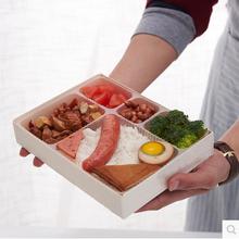 高档原木制一次性餐盒外卖快餐盒打包盒台式便当盒饭盒