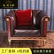 美英卡萨家具欧式真皮沙发美式实木沙发法式客厅沙发别墅高端定制