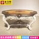 亚历山大实木手工雕花餐桌拉卡萨家具餐桌高端定制