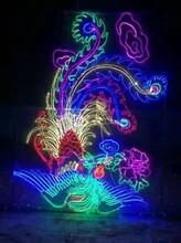 蓝色花海爱的海洋梦幻灯光节展览