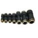 快速接頭氣動元件亞大管氣管半銅快速接頭快插直通廠家直銷